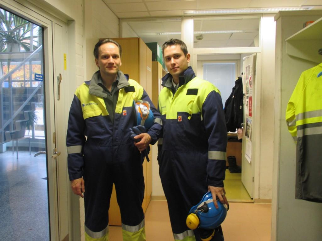 Luke and Pasi at customer premises in Finland