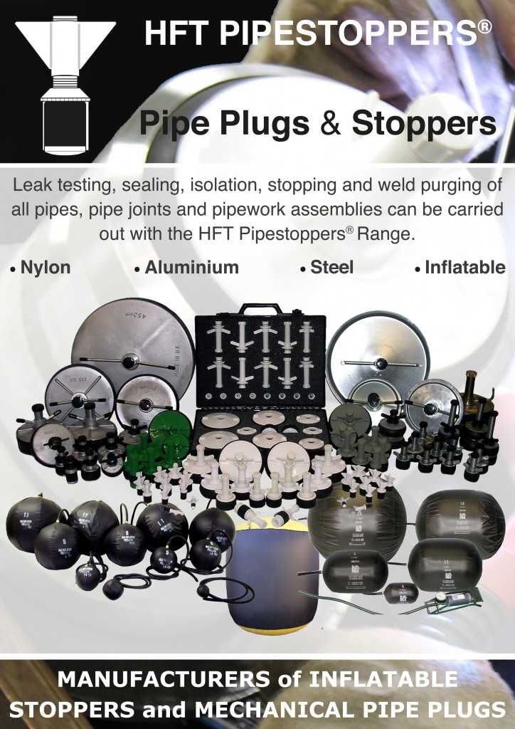 HFT Pipestoppers Pipe Plugs and Stoppers range