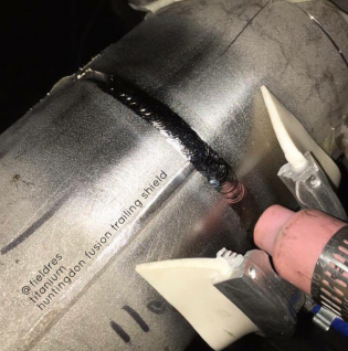 weld trailing shield