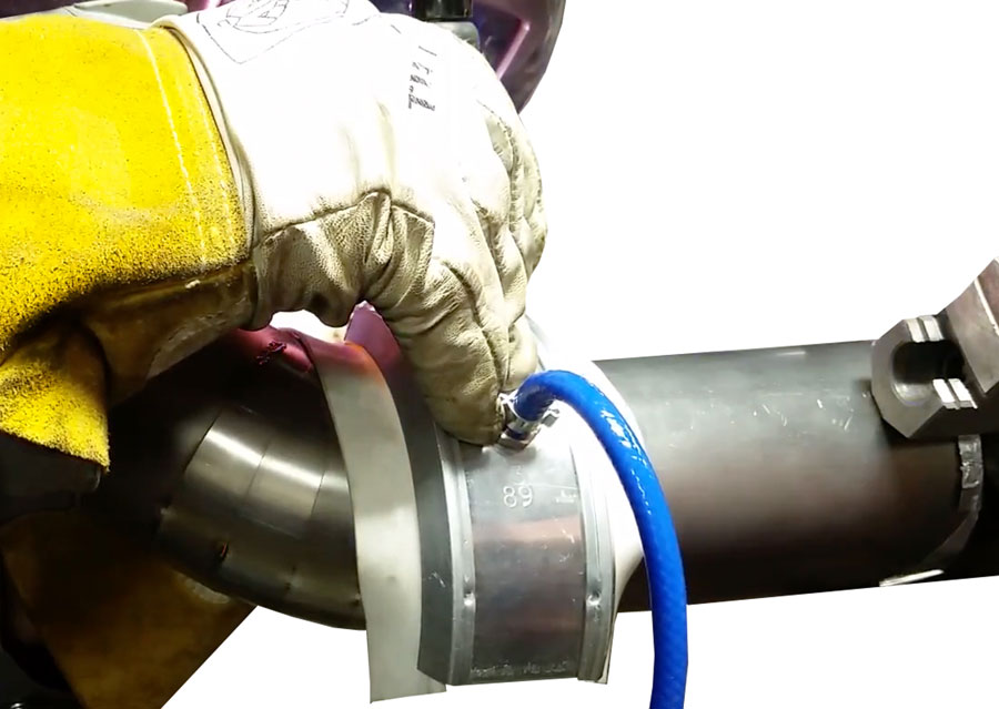 Welding Titanium protected with a Weld Trailing Shield